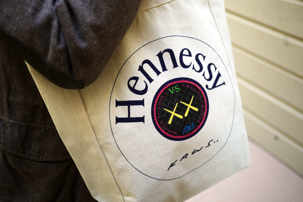 win an exclusive hennessy x kaws tote bag