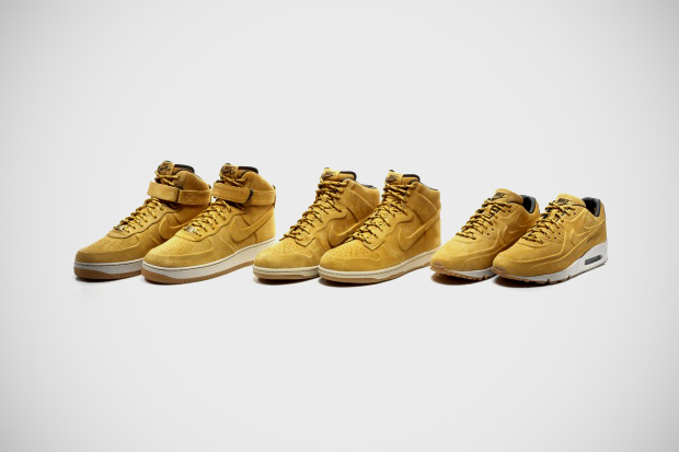 win the whole nike sportswear vt wheat sneaker pack and 150 usd credit at kix files
