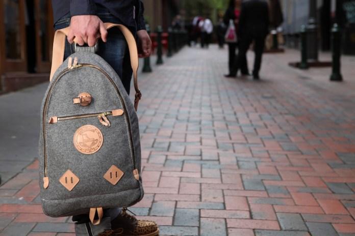 Yuketen Triangle Backpack Grey Heather Wool