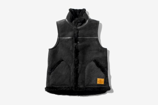 A Bathing Ape SHEEPSKIN MOUTON VEST