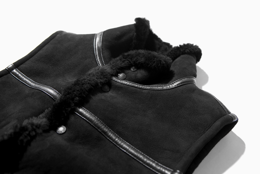 a bathing ape sheepskin mouton vest