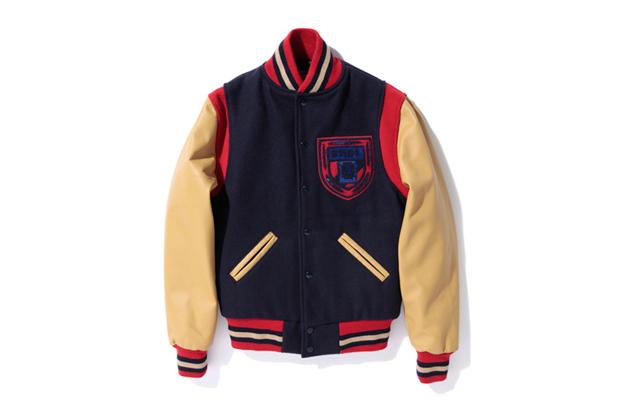 A Bathing Ape x Ebbets Field Flannels Varsity Jacket