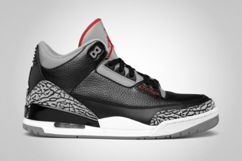 Air Jordan 3 Retro Black/Varsity Red-Cement Grey