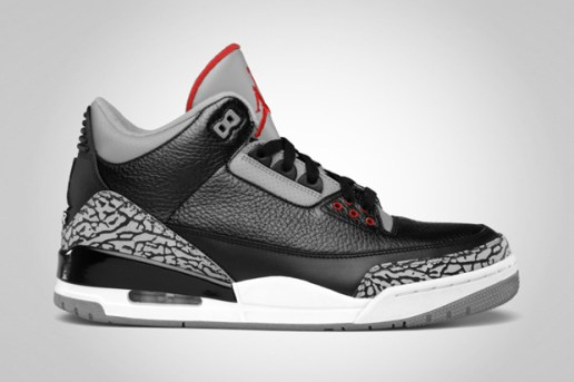 Air Jordan 3 Retro Black/Varsity Red-Cement Grey