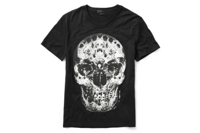 """Alexander McQueen """"Moth"""" Skull T-Shirt"""