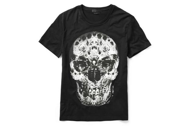alexander mcqueen moth skull t shirt