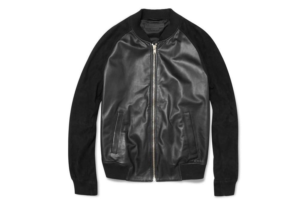 Alexander McQueen Nappa Leather Bomber Jacket