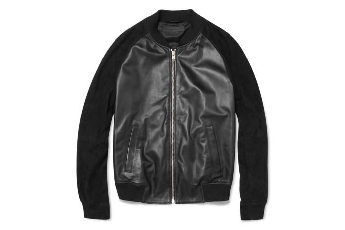 Alexander McQueen Nappa Leather Bomber Jacket