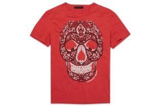 """Alexander McQueen """"Paisley"""" Skull T-Shirt"""