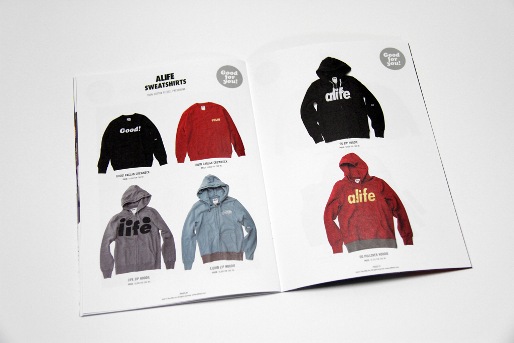 Alife x HIDDEN CHAMPION 2011 Fall/Winter 'Good for you!' Book