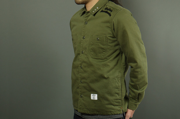 "BEDWIN & THE HEARTBREAKERS for HAVEN ""Richards"" Military Quilted CPO Shirt"