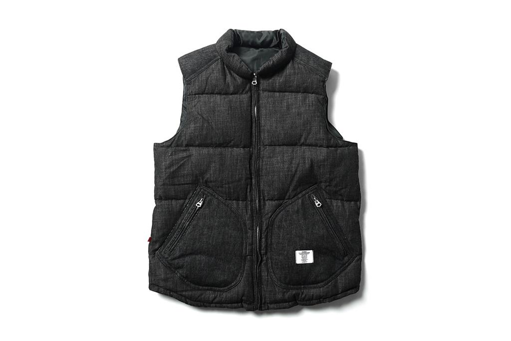 """BEDWIN & THE HEARTBREAKERS """"Fripp"""" Reversible Down Vest"""