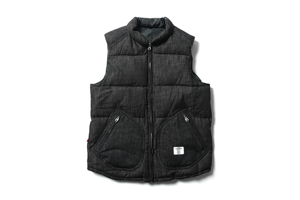 bedwin the heartbreakers fripp reversible down vest