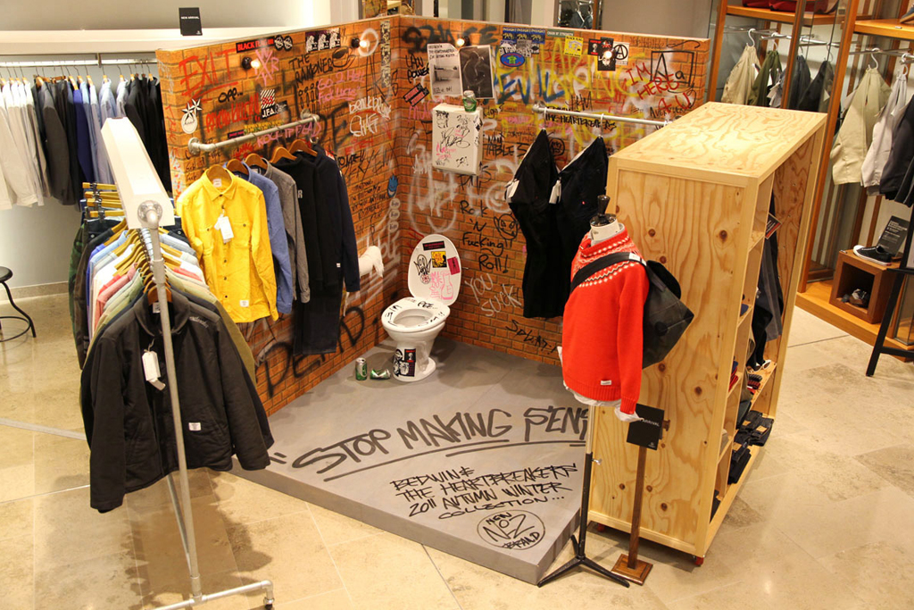BEDWIN & THE HEARTBREAKERS Installation @ Beauty & Youth United Arrows Shibuya