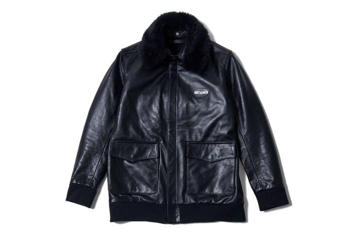 BOUNTY HUNTER Leather Flight Jacket