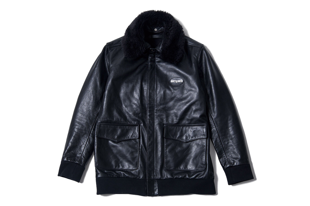 BOUNTY HUNTER Leather Flight Jacket