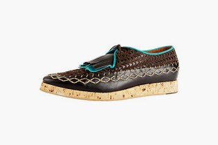 Burberry Prorsum 2012 Spring/Summer Wedge Sole Woven Leather Shoes