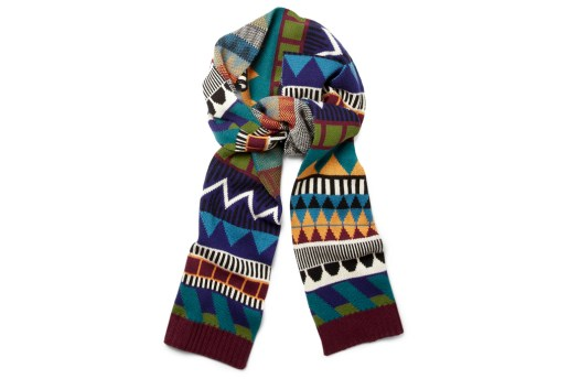 Burberry Prorsum Patterned Multicolored Scarf