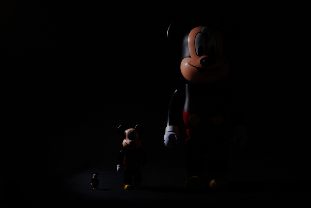 CLOT x Disney x Medicom Toy 3-Eyed Mickey Bearbrick 100%, 400% & 1000% Preview