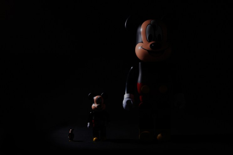 CLOT x Disney x Medicom Toy 3-Eyed Mickey Bearbrick 100%, 400% & 1000% Preview