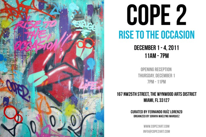 """Cope 2 """"Rise To The Occasion"""" Exhibition @ The Wynwood Arts District"""