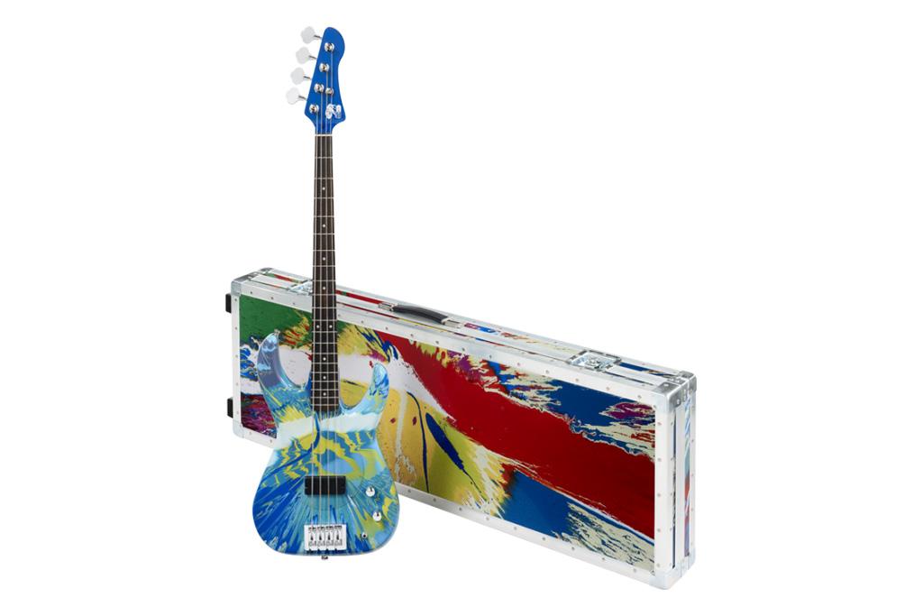 Damien Hirst x Flea Color Spin Bass Guitars