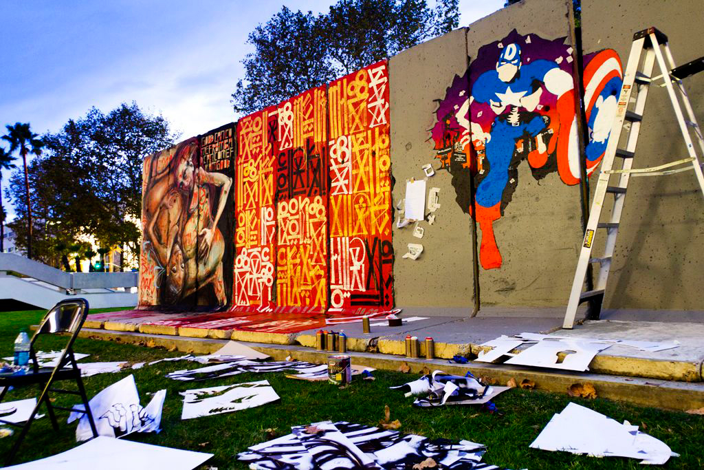 """D*Face & RETNA """"Behind the Berlin Wall"""" Exhibition @ Wende Museum"""