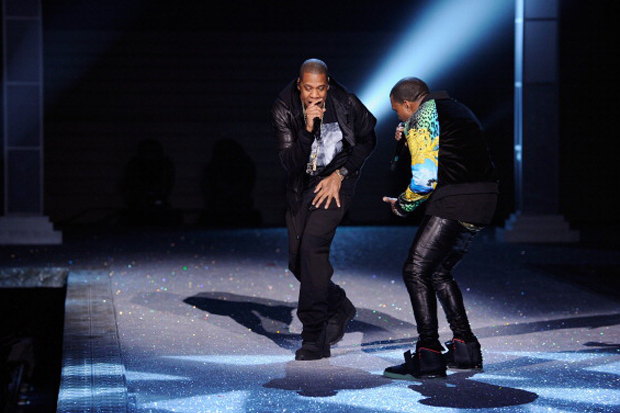Kanye West Wears Air Yeezy 2 @ Victoria's Secret Fashion Show