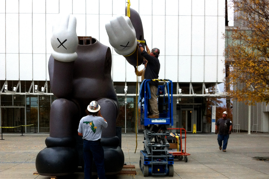 "KAWS ""Down Time"" Exhibition Companion Install @ High Museum of Art"