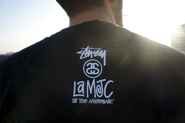 lamjc x stussy undefeated 10th anniversary t shirts