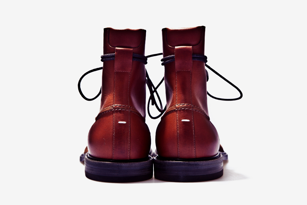 maison martin margiela 2011 fallwinter two toned leather boot