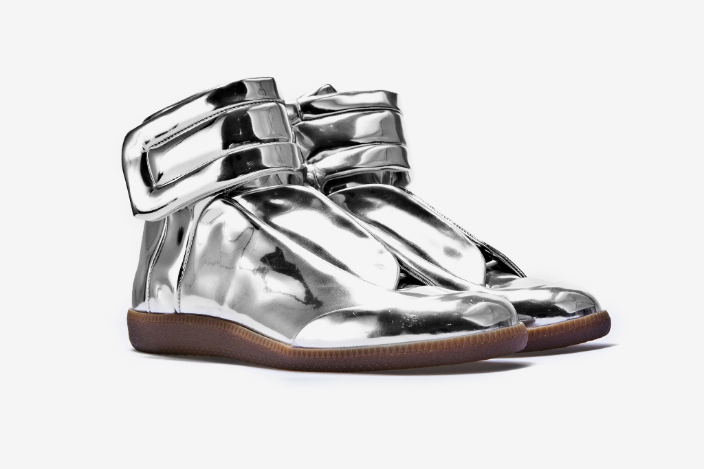 maison martin margiela sci fi sneaker metallic