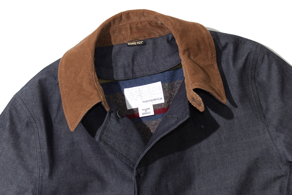 nanamica gore tex soutien collar coat