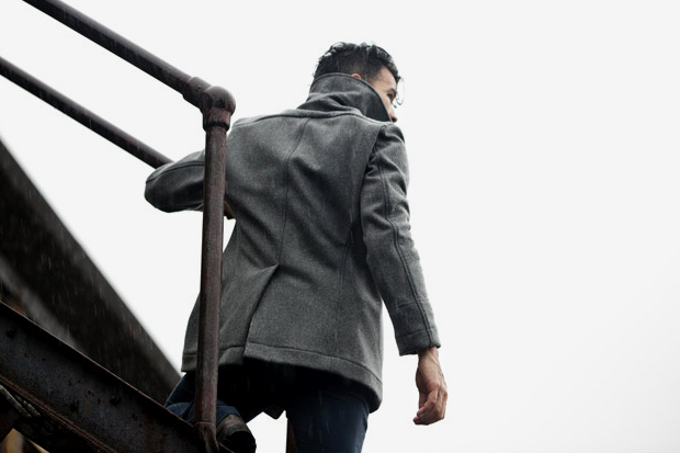 Outlier Liberated Wool Pea Coat