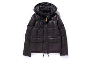 Prankster Associates x Stussy Leather Down Jacket
