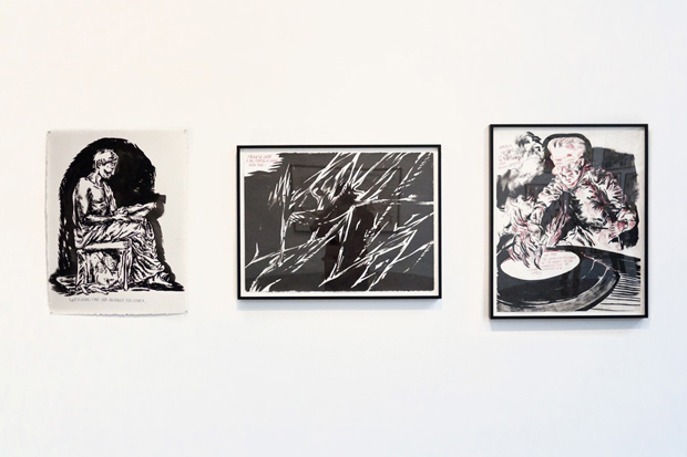 raymond pettibon desire in pursuyt of the whole exhibition recap