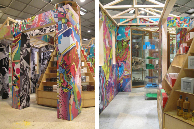 rei kawakubo x avaf hut invasion installation dover street market