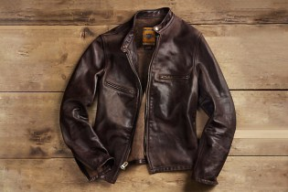 Restoration Hardware x Schott NYC Vintaged Cafe Racer Motorcycle Jacket