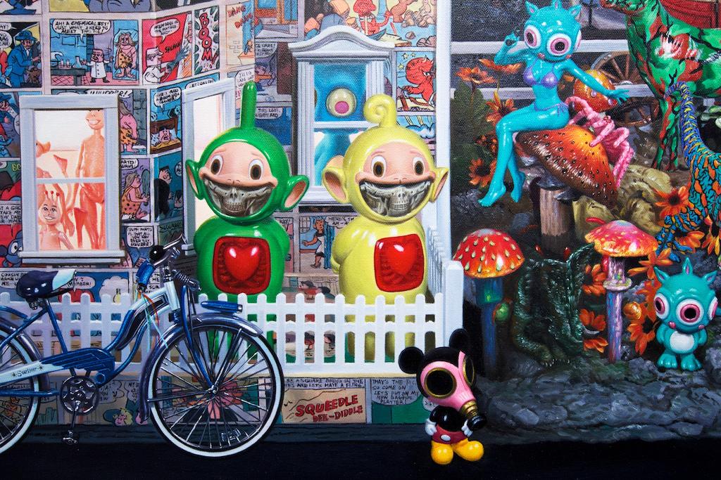http://hypebeast.com/2011/11/ron-english-seasons-in-supurbia-exhibition-corey-helford-gallery-recap