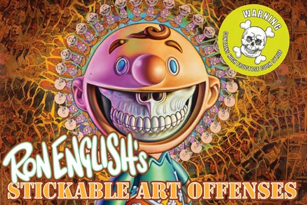 Ron English 'Stickable Art Offenses' Book