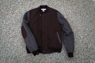 Ronnie Fieg x Shades of Grey by Micah Cohen Chocolate/Tweed Baseball Jacket