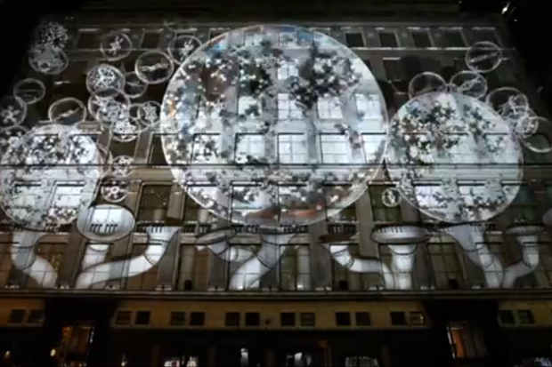 Saks Fifth Avenue 2011 Holiday 3D Video Projection Show