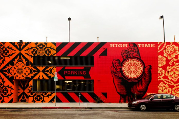 Shepard Fairey Mural @ District La Brea (Completed)