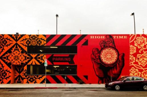 Shepard Fairey Mural @ District La Brea (Completed)