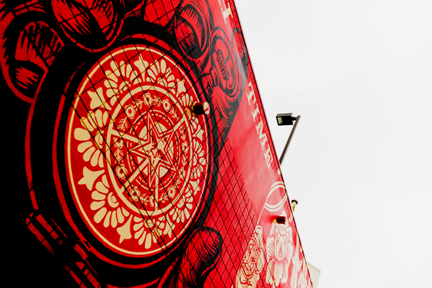 shepard fairey mural district la brea completed
