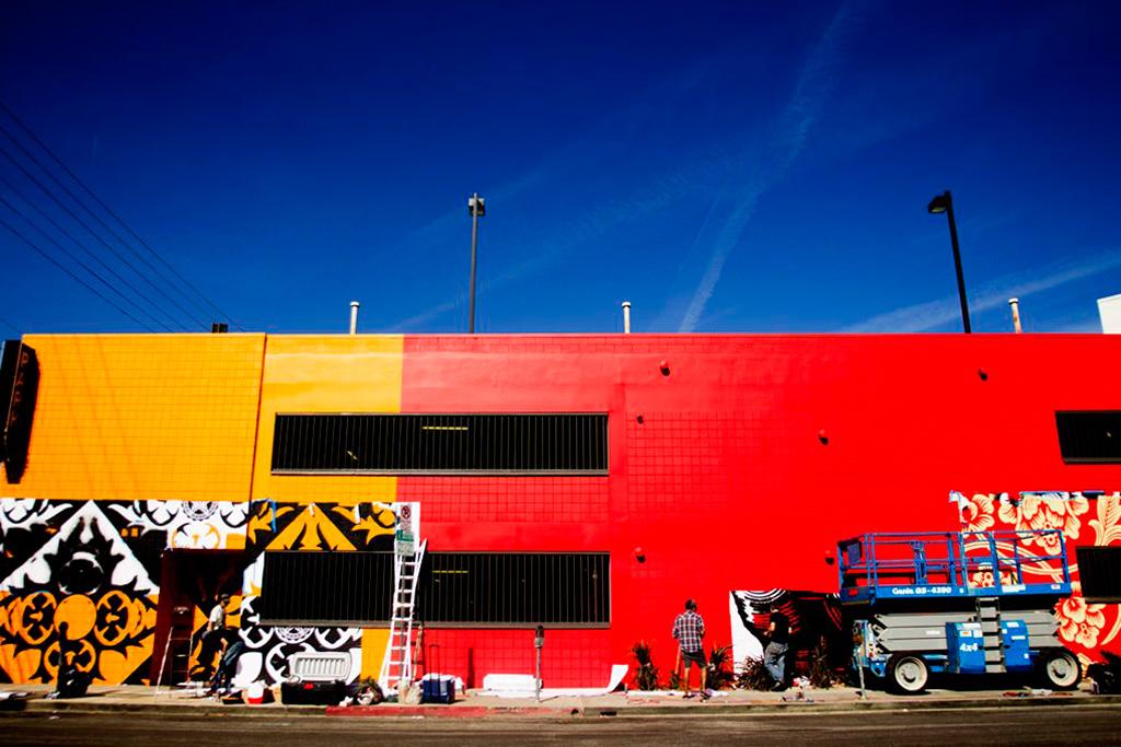 Shepard Fairey Mural @ District La Brea