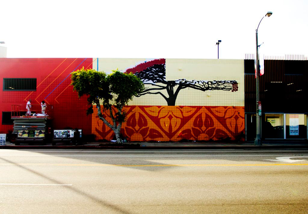 Shepard Fairey Mural @ District La Brea