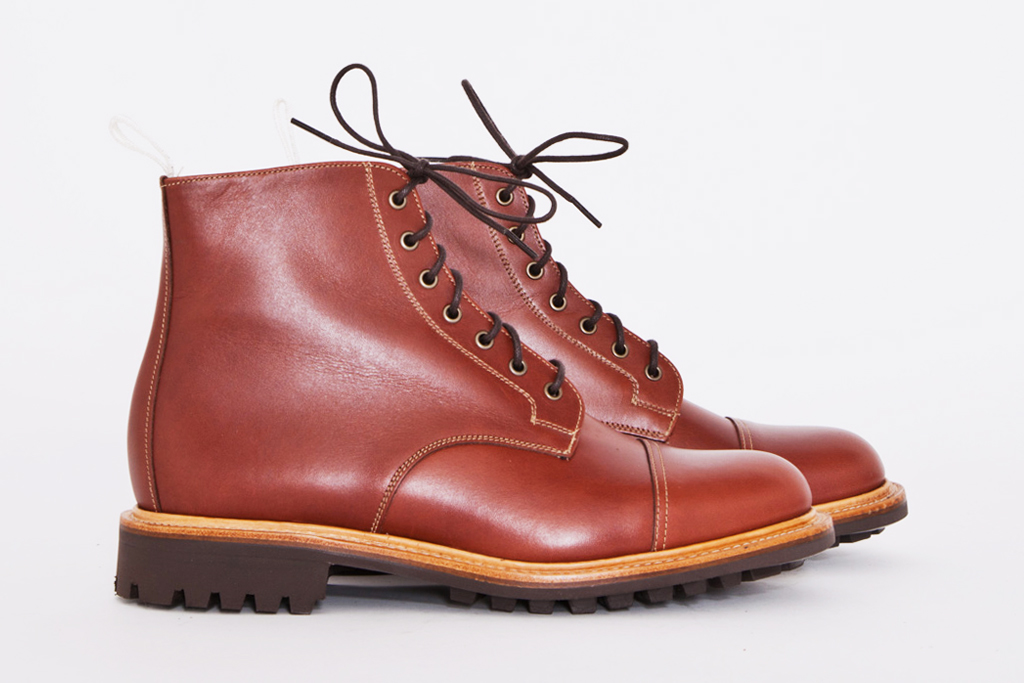 tres bien shop x mark mcnairy tan waxy derby boot