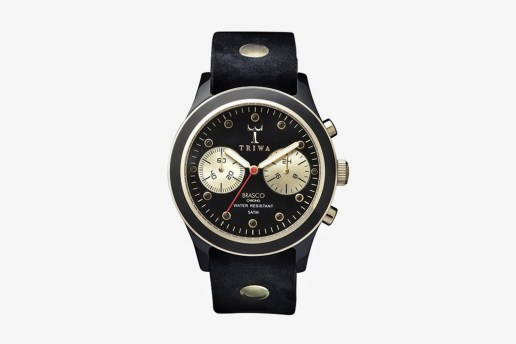 Triwa Brasco Ebony Gold Chrono Watch