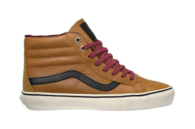 vans vault 2011 fallwinter leather flannel sk8 hi lx era lx